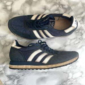 1980's Adidas Boston Vintage Shoes - Navy Blue